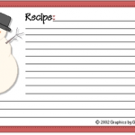 Editable Recipe Card Template Christmas