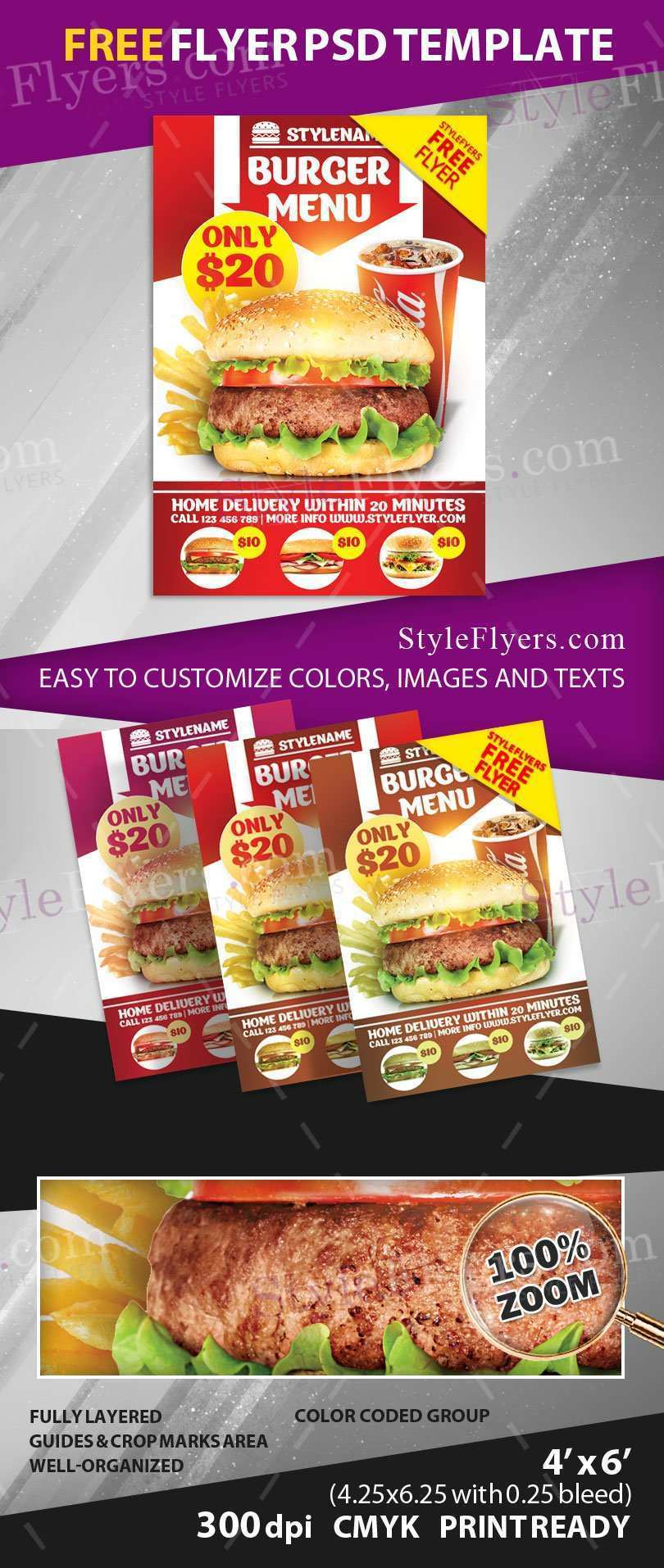 67 The Best Burger Flyer Template Layouts by Burger Flyer Template