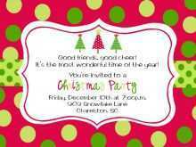 Free Christmas Holiday Party Flyer Template