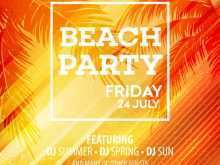 67 Visiting Beach Party Flyer Template in Word for Beach Party Flyer Template