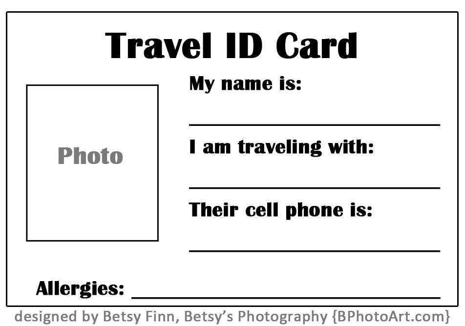 67 Visiting Emergency Id Card Template With Stunning Design for Emergency Id Card Template