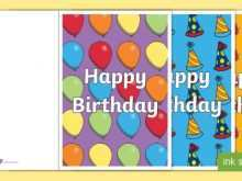 67 Visiting Happy Birthday Card Template A4 for Ms Word by Happy Birthday Card Template A4