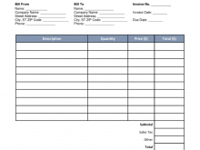 68 Adding Blank Billing Invoice Template Pdf Formating for Blank Billing Invoice Template Pdf