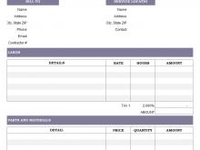 Labour Invoice Format For Gst
