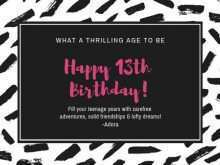 68 Blank 13Th Birthday Card Template Templates for 13Th Birthday Card Template