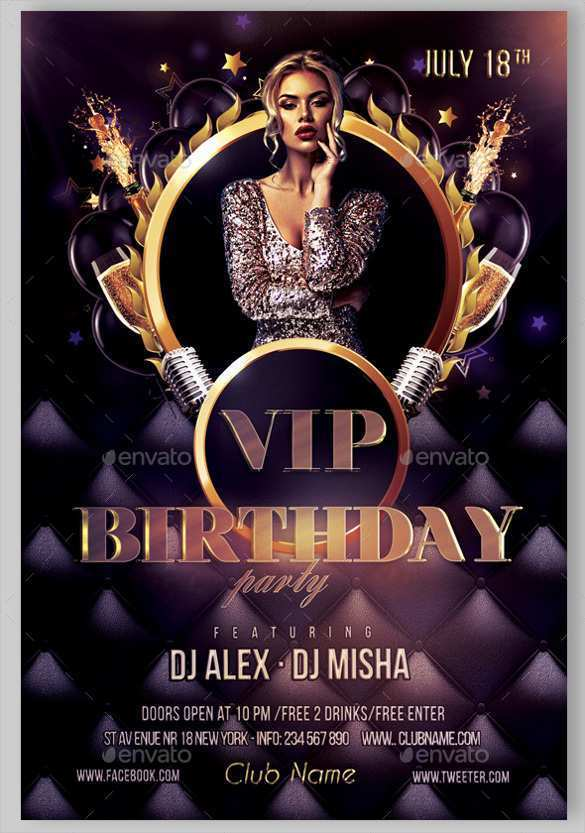 68 Blank Birthday Flyers Templates Formating by Birthday Flyers Templates