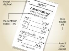 Vat Invoice Format As Per Fta