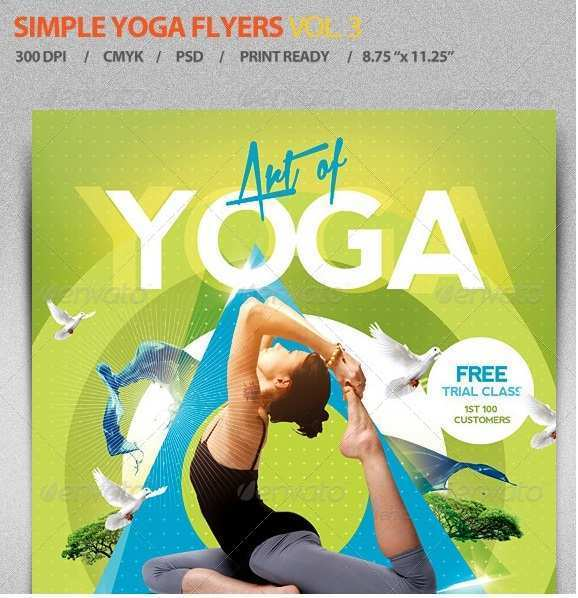 68 Creating Yoga Flyer Template Free For Free For Yoga Flyer Template Free Cards Design Templates