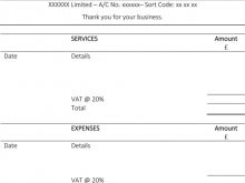 Labour Invoice Template Uk