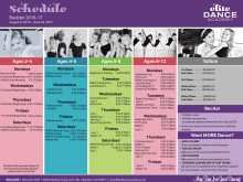 68 Format Dance Class Schedule Template Formating by Dance Class Schedule Template