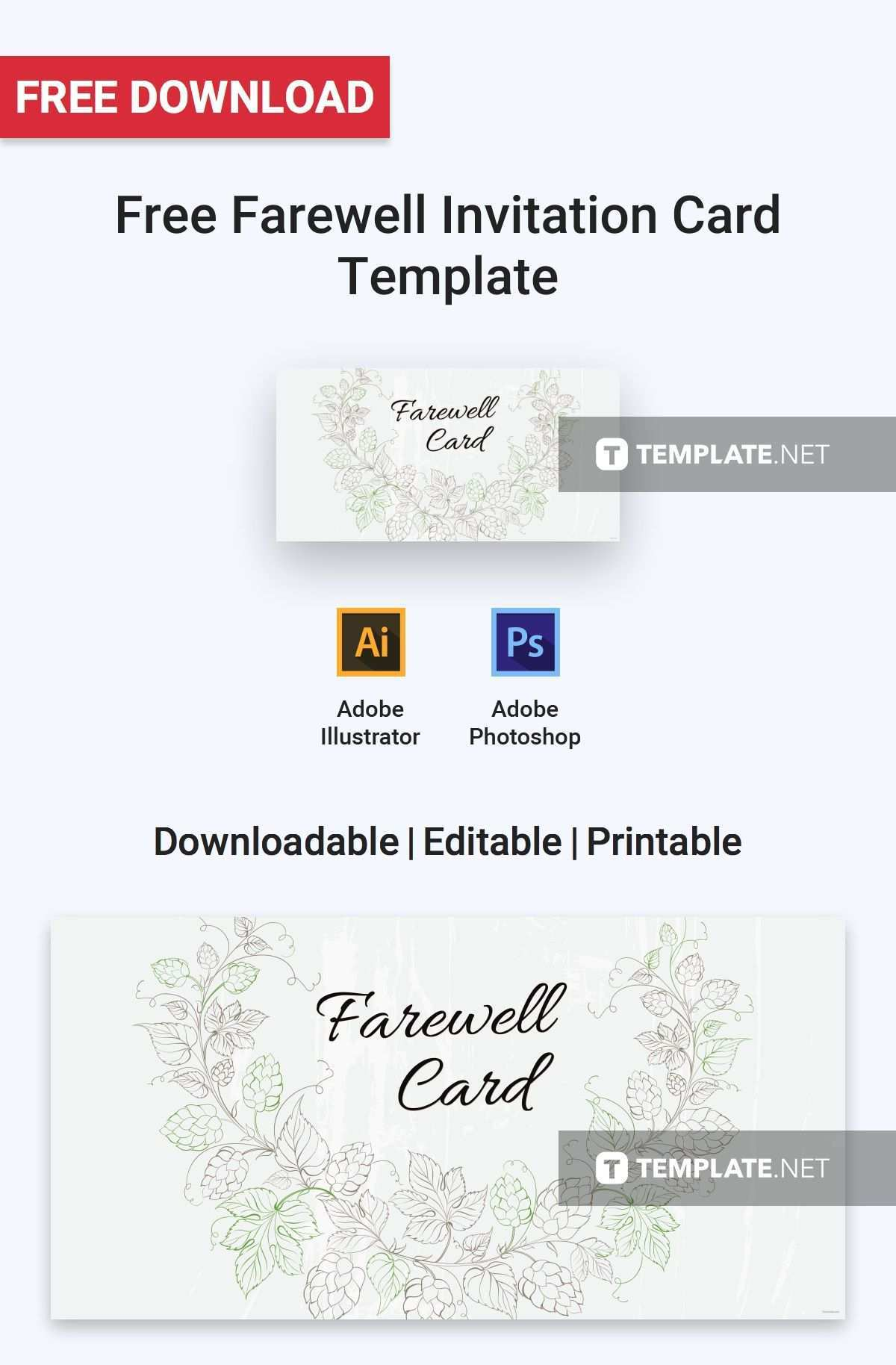 68 Free Farewell Card Templates Free Download Photo for Farewell Card Templates Free Download