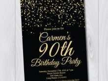 68 Free Printable 90Th Birthday Card Template Download with 90Th Birthday Card Template