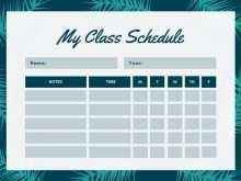 68 How To Create Class Schedule Template Cute in Photoshop with Class Schedule Template Cute