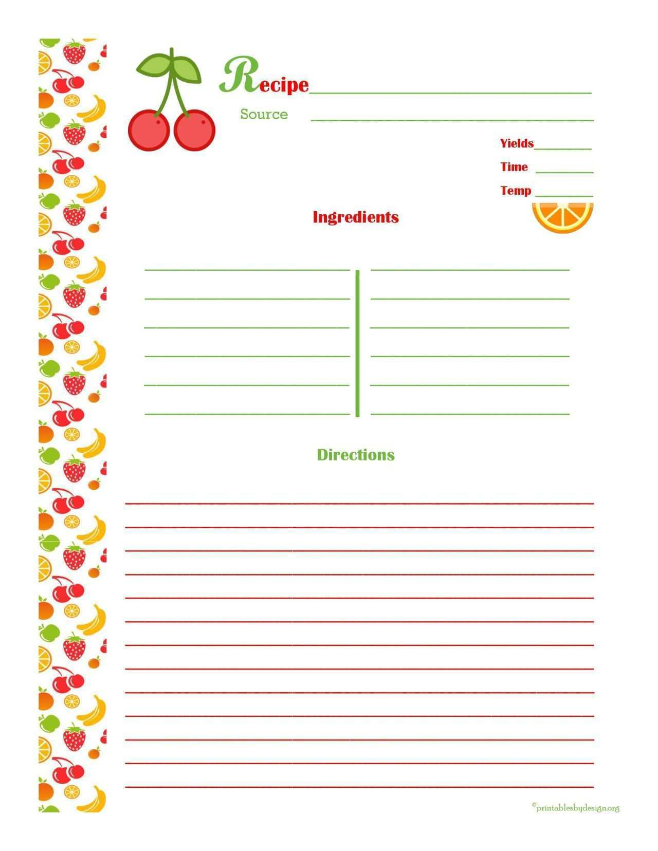 68 How To Make Recipe Card Template In Word Now with How To Make Recipe Card Template In Word