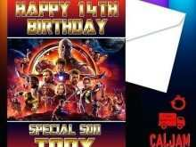 68 Printable Birthday Card Template Avengers Download by Birthday Card Template Avengers
