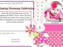 68 Printable Invitation Card Format Naming Ceremony Templates by Invitation Card Format Naming Ceremony