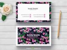 68 Report Floral Business Card Template Free Download Maker for Floral Business Card Template Free Download