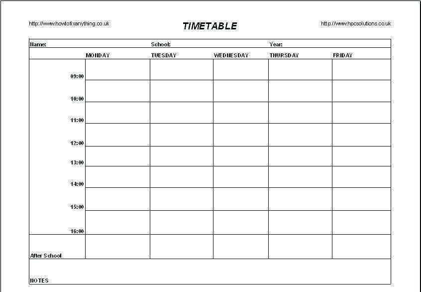 68 Standard Class Schedule Template Maker in Word for Class Schedule Template Maker