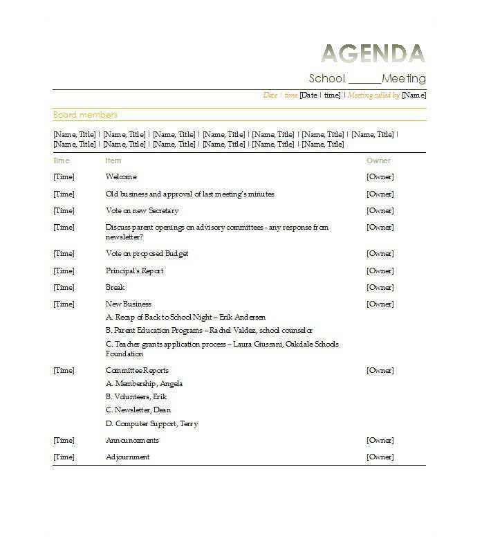 68 The Best Conference Agenda Template Free Layouts for Conference Agenda Template Free