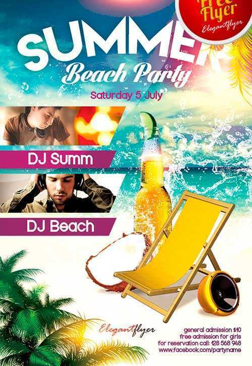 68 Visiting Beach Flyer Template Free PSD File with Beach Flyer Template Free