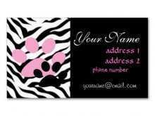 68 Visiting Business Card Template Paw Print in Photoshop for Business Card Template Paw Print