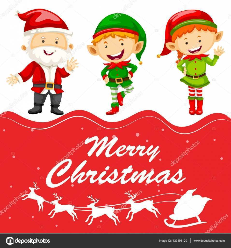 69 Best Christmas Card Template Elf Layouts with Christmas Card Template Elf