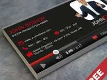 69 Business Card Template Youtube For Free for Business Card Template Youtube