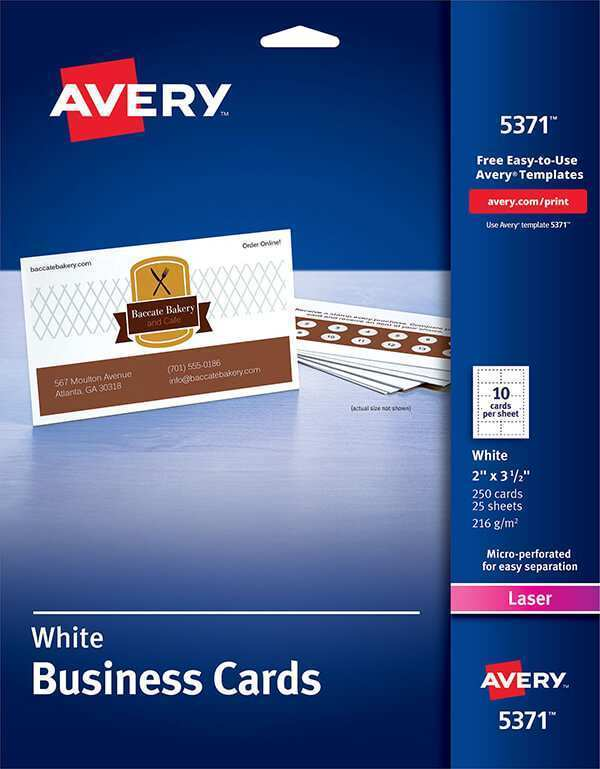 69 Creating Avery Laser Business Card Template 5371 PSD File with Avery Laser Business Card Template 5371