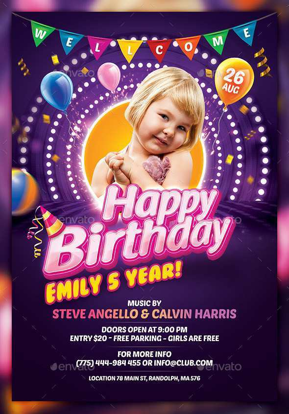 69 Creating Free Birthday Flyer Template Word Maker for Free Birthday Flyer Template Word