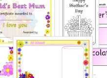 69 Creating Mother S Day Card Template Sparklebox With Stunning Design for Mother S Day Card Template Sparklebox