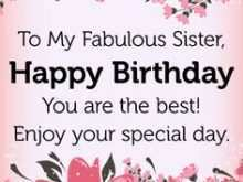 69 Customize Birthday Card Template For Sister for Ms Word for Birthday Card Template For Sister