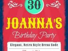 69 Customize Birthday Party Invitation Flyer Template For Free with Birthday Party Invitation Flyer Template
