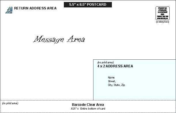 Free Usps 5 X 7 Postcard Template Maker