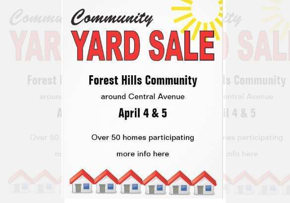 69 Format Community Yard Sale Flyer Template With Stunning Design for Community Yard Sale Flyer Template