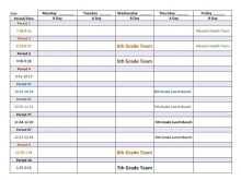 69 Free 5Th Grade Class Schedule Template Templates by 5Th Grade Class Schedule Template