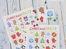 69 Free Christmas Bingo Card Template PSD File with Christmas Bingo Card Template