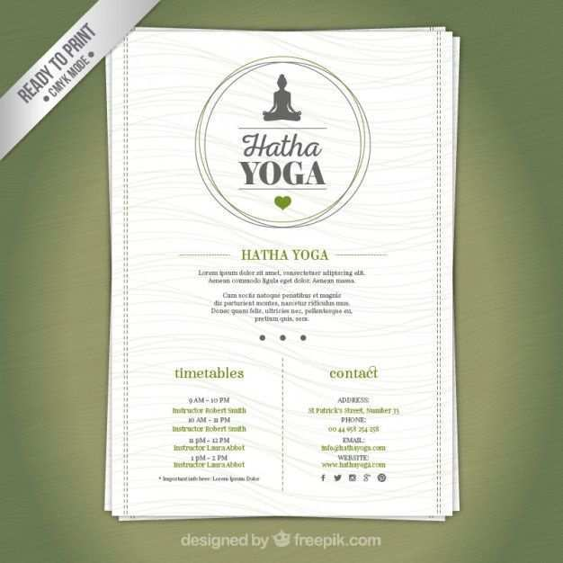 Yoga Flyer Template Free Psd