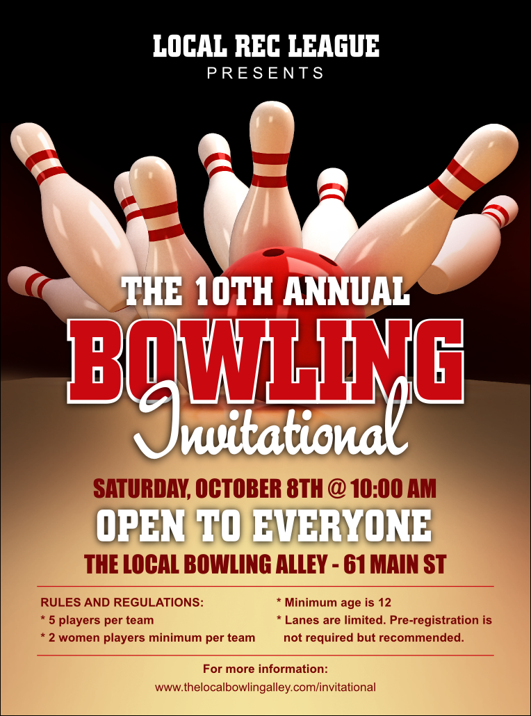 69 How To Create Bowling Fundraiser Flyer Template Photo with Bowling Fundraiser Flyer Template