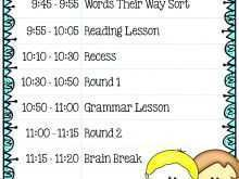 69 How To Create Class Schedule Template Online Maker for Class Schedule Template Online