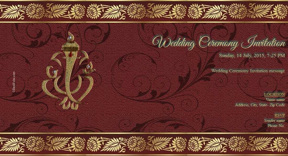 Kerala Hindu Wedding Card Templates Cards Design Templates