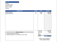 69 Online Invoice Format For Consultancy Services Maker by Invoice Format For Consultancy Services