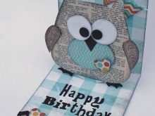 69 Owl Pop Up Card Template Layouts with Owl Pop Up Card Template