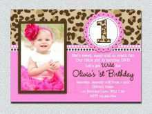 69 Report 1St Birthday Invitation Card Template Online Formating for 1St Birthday Invitation Card Template Online