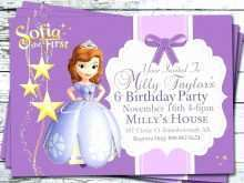 69 Sofia Birthday Card Template in Photoshop with Sofia Birthday Card Template