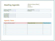 69 Standard A Meeting Agenda Example Download for A Meeting Agenda Example