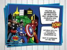 69 Standard Birthday Card Template Avengers Templates by Birthday Card Template Avengers