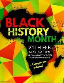 69 Standard Black History Month Flyer Template PSD File by Black History Month Flyer Template