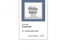 Employee Id Card Template Microsoft Word Free Download Vertical