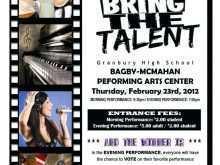 69 The Best School Talent Show Flyer Template PSD File with School Talent Show Flyer Template