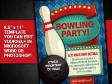 70 Best Bowling Flyer Template Word Formating with Bowling Flyer Template Word